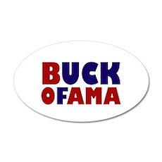 Buck Ofama 20x12 Oval Wall Decal