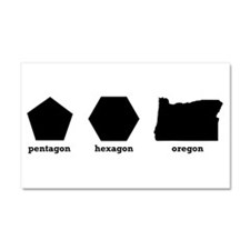 Polygon Oregon Car Magnet 20 x 12