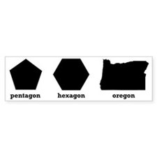 Polygon Oregon Bumper Sticker