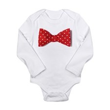 bow tie red dots Body Suit