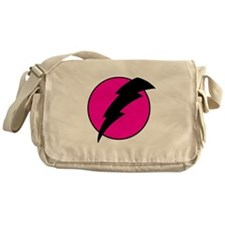Flash Bolt Pink Lightning Messenger Bag