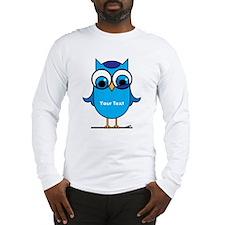 Custom Blue Owl Branch Long Sleeve T-Shirt