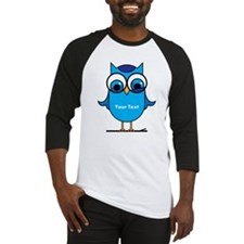 Custom Blue Owl Branch Baseball Jersey
