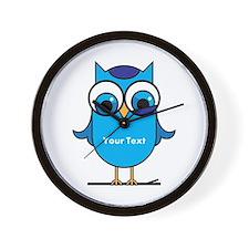 Custom Blue Owl Branch Wall Clock
