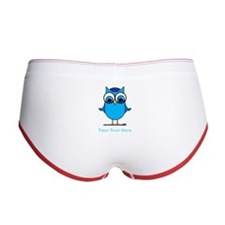 Personalized Blue Owl Women's Boy Brief