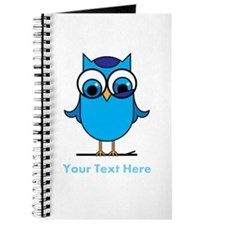 Personalized Blue Owl Journal