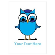 Personalized Blue Owl Invitations