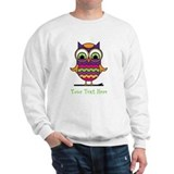 Customizable Whimsical Owl Sweater