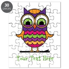 Customizable Whimsical Owl Puzzle