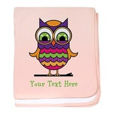 Customizable Whimsical Owl baby blanket