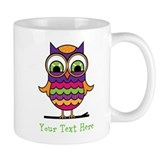 Customizable Whimsical Owl Mug