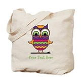 Customizable Whimsical Owl Tote Bag