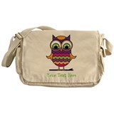 Customizable Whimsical Owl Messenger Bag