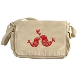 Lacy Love Birds Messenger Bag