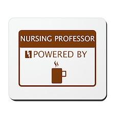Nursing Professor Powered by Coffee Mousepad