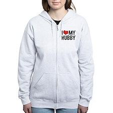 I Love My Hubby Zip Hoodie