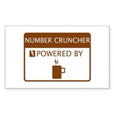 Number Cruncher Powered by Coffee Decal