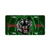 Aluminum License Plate, Shotokan Karate Tiger