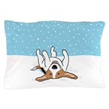 Happy Snow Beagle Pillow Case