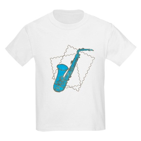 Blue Saxophone Kids Light T-Shirt