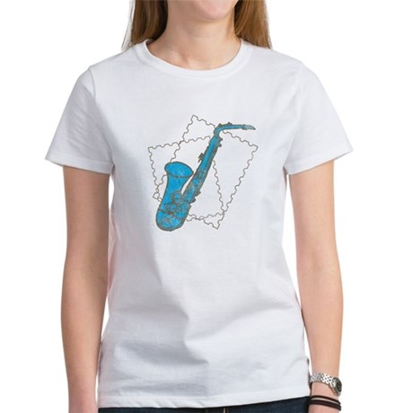 Blue Saxophone Women's T-Shirt