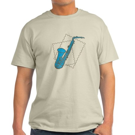 Blue Saxophone Light T-Shirt