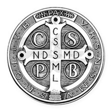 Medal of Saint Benedict Round Car Magnet