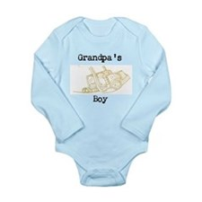 Grandpa's Boy Long Sleeve Infant Bodysuit