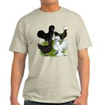 Four Crested Chickens Light T-Shirt