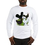 Four Crested Chickens Long Sleeve T-Shirt