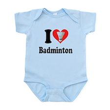 I Heart Badminton: Infant Bodysuit