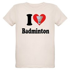 I Heart Badminton: T-Shirt