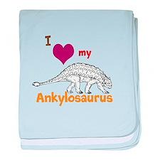 Ankylosaurus baby blanket