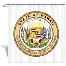 Hawaii State Seal Shower Curtain