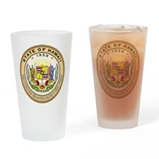 Hawaii State Seal Drinking Glass
