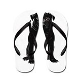 Black Pug Flip Flops