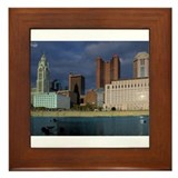 Columbus By The River Framed Tile