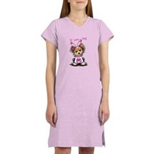 Yorkie Luv Bug Women's Nightshirt