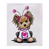 Yorkie Luv Bug Throw Blanket