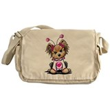 Yorkie Luv Bug Messenger Bag