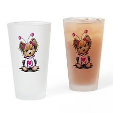 Yorkie Luv Bug Drinking Glass