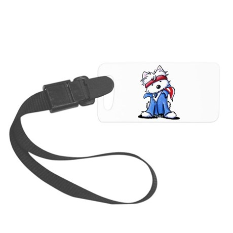 Westie Boss Small Luggage Tag