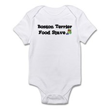 Boston Terrier FOOD SLAVE Infant Bodysuit