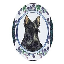 Scottish Terrier Designer Oval Ornament
