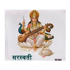 Saraswati Throw Blanket