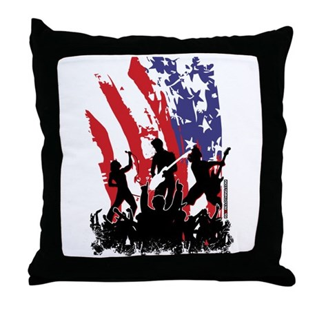 America Rocks Throw Pillow