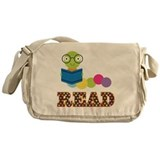 Fun Read Bookworm Messenger Bag