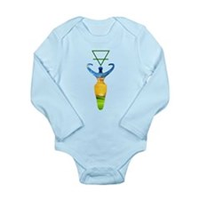 Earth Alchemal Goddess Long Sleeve Infant Bodysuit