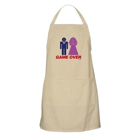 Game Over Marriage Apron