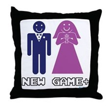 New Game + Marriage Throw Pillow